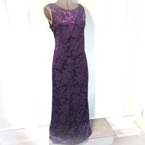 Carole Little purple velvety dress